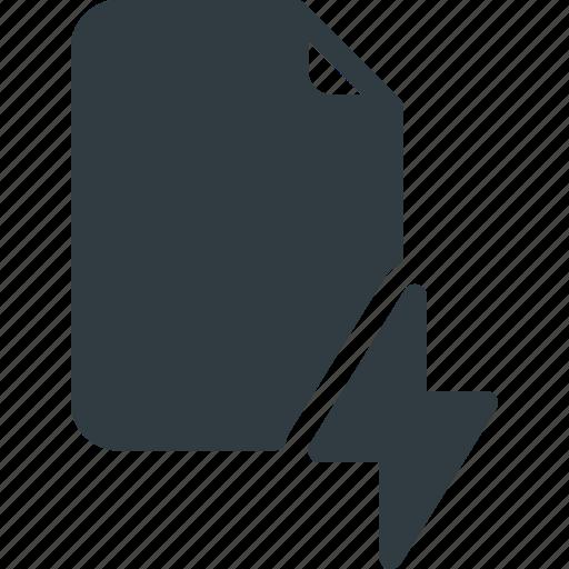 documen, fast, file, flash, lighting, paper icon
