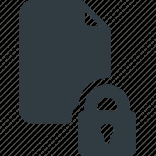 Documen, file, lock, paper, secure icon - Download on Iconfinder