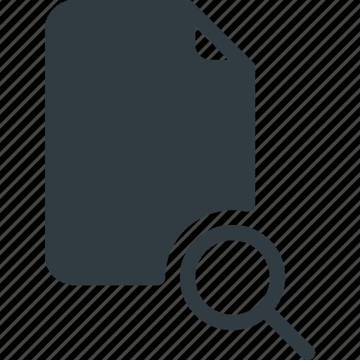 documen, file, paper, search icon