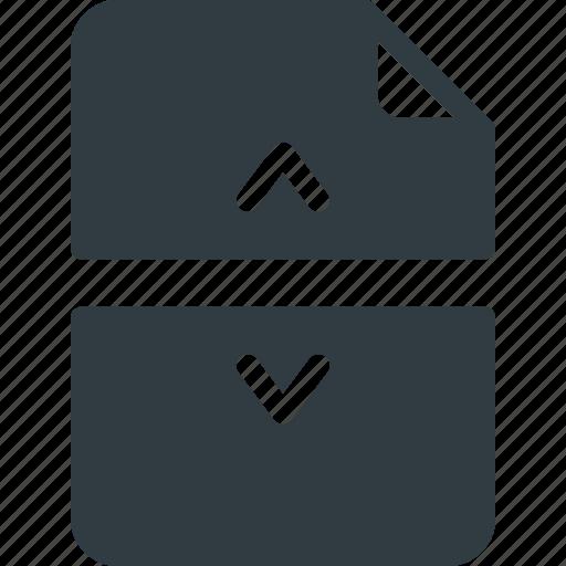 Devide, documen, file, paper, split icon - Download on Iconfinder