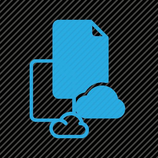 cloud, documen, file, paper icon