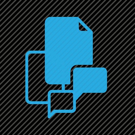 comment, documen, file, message, paper icon