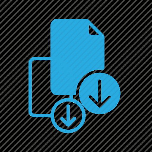 documen, download, file, paper icon