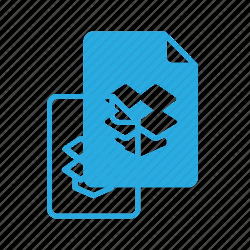 documen, dropbox, file, paper icon