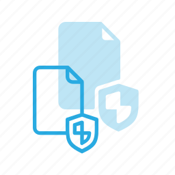 documen, file, paper, protection, shield icon