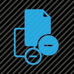documen, file, paper, remove icon