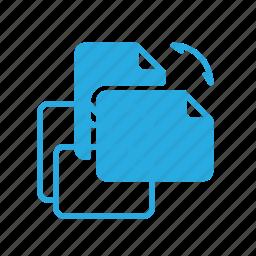 documen, file, paper, rotate icon
