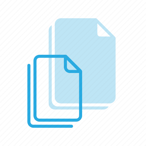 blank, documen, file, paper, stack icon