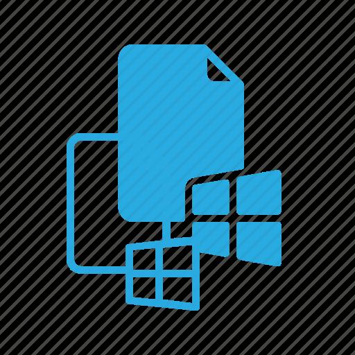 documen, file, paper, system, windows icon