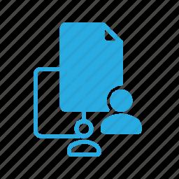 documen, file, paper, personal, user icon