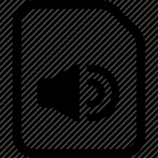 aac, audio, file, mp3 icon
