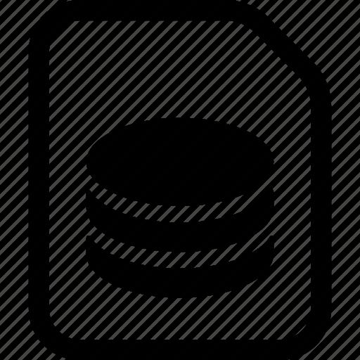 database, file icon