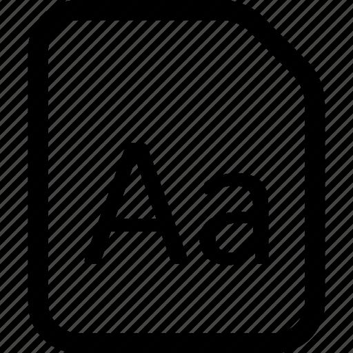 file, font, otf, ttf icon