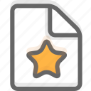 document, favorites, file, office, page, paper icon