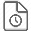 document, file, history, office, page, paper icon