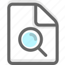 document, file, office, page, paper, search icon