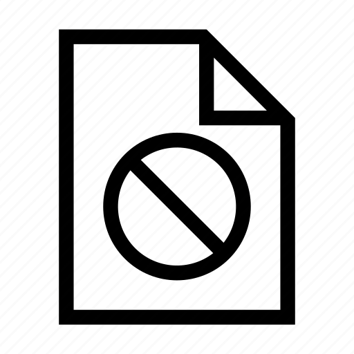 Access, denied, document, file, forbidden icon - Download on Iconfinder