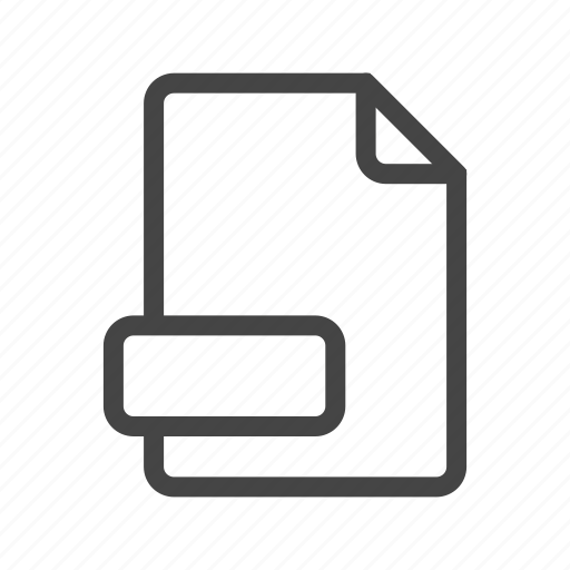 document, extension, file, format, page, paper, type icon