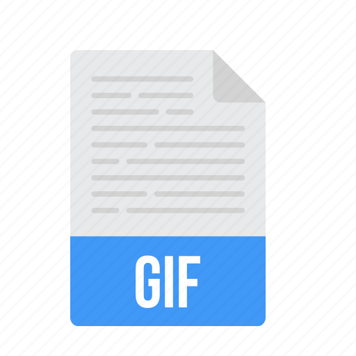 document, file, format, gif icon