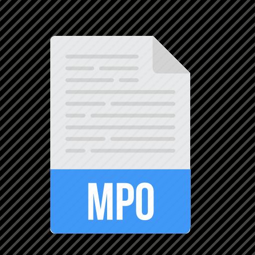 document, file, format, mpo icon