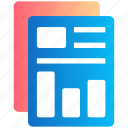 chart, documents, duplicate, files, graph, report