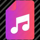 audio, document, file, music, record