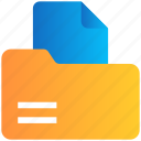 archive, document, file, folder icon
