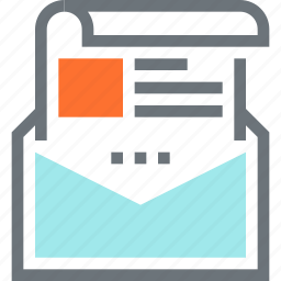address, communication, email, envelope, letter, mail, message icon
