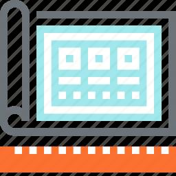 blueprint, design, development, drawing, layout, template, web icon