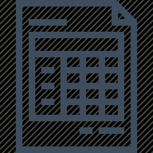 account, data, document, file, invoice, receipt, report, vector icon