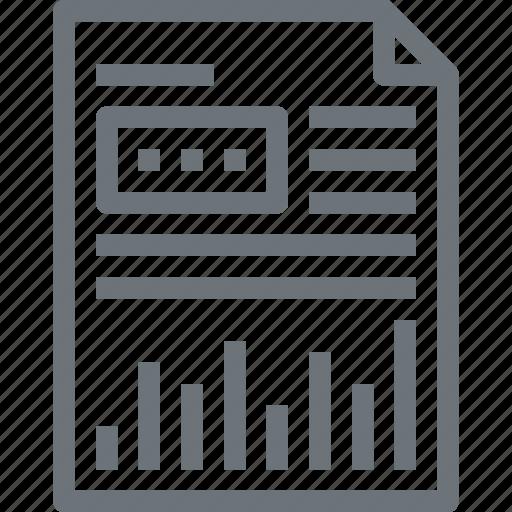 analytics, chart, document, file, graph, report, statistics icon