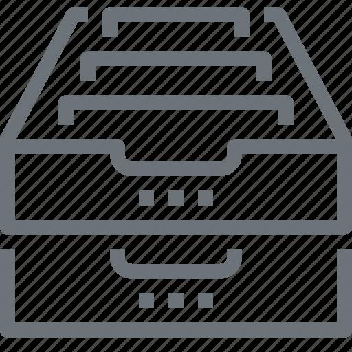archive, box, data, document, file, office, storage icon