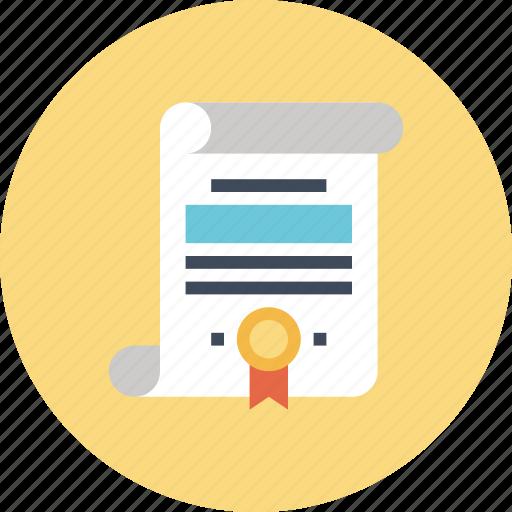 certificate, degree, diploma, document, education, graduation, knowledge icon