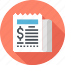 checkout, commerce, invoice, payment, price, receipt, shopping icon