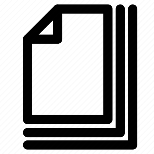 archive, document, file, list, paper icon