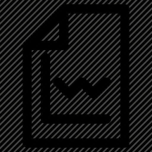 chart, document, file, paper, report, statistics icon