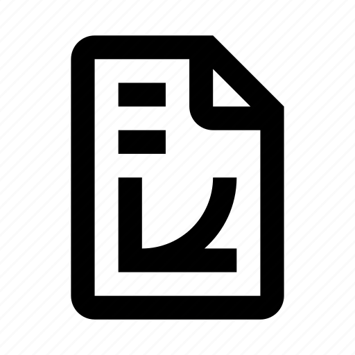 chart, file, graph, math icon