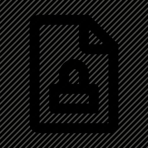 file, lock, locked, secure icon