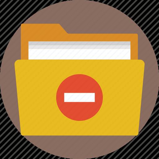 deleting file, deleting folder, remove document, remove file, removing a folder icon