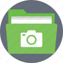 camera folder, camera photos, photo files, picture files icon