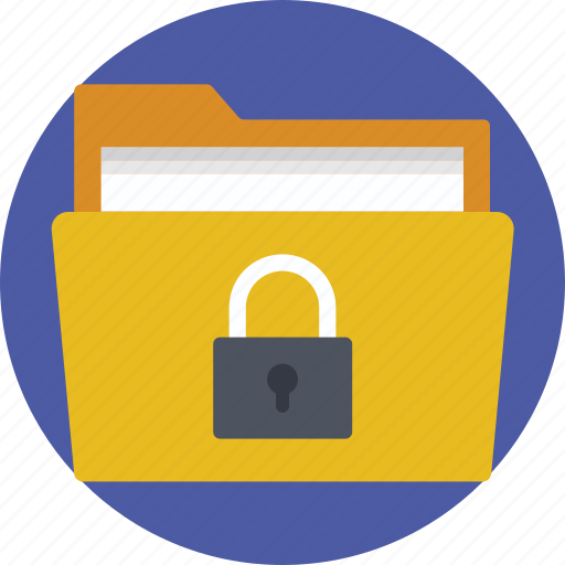 Locked folder, password protected, protected folder, secured documents, secured files icon - Download on Iconfinder