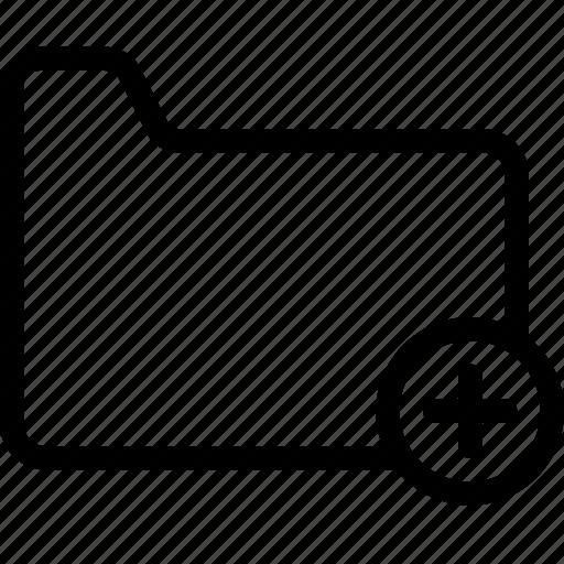 add, files, folders icon