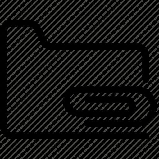 attachments, files, folders icon