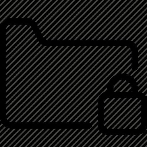 files, folders, locked, password, secured icon