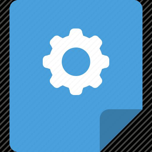 file, program setting, settings icon
