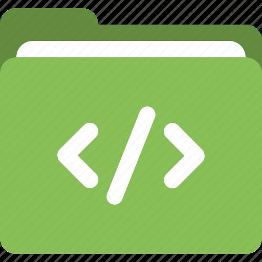 administrative folder, code, data folder, folder icon