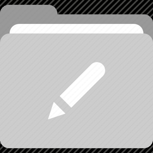 Create folder, edit, edit document, folder icon - Download on Iconfinder