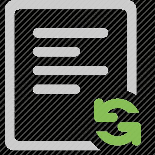 file, refresh, sync file icon