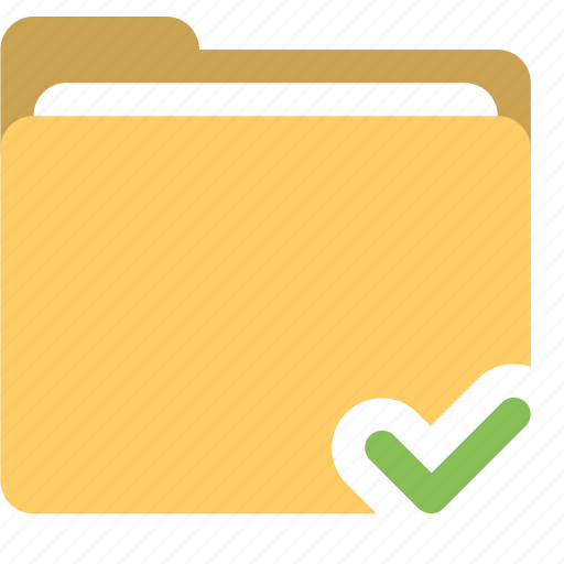 accepted folder, checked, folder, read folder icon