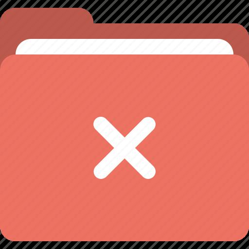 delete, erase folder, error, folder icon